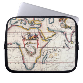 Map of Africa 5 Laptop Computer Sleeve