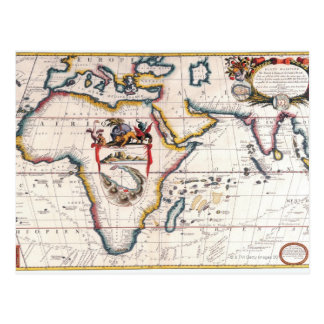 Map of Africa 5 Postcard