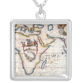 Map of Africa 5 Silver Plated Necklace