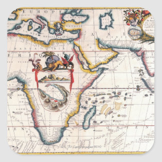 Map of Africa 5 Square Sticker