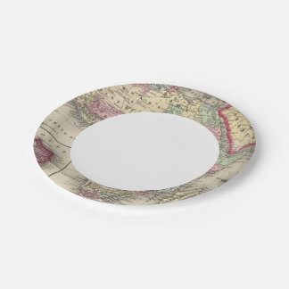 Map Of Africa 7 Inch Paper Plate