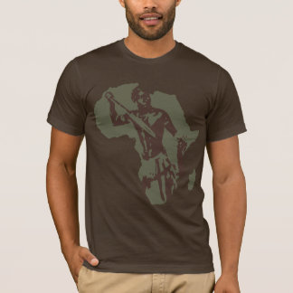Map of Africa African Warrior and African American T-Shirt