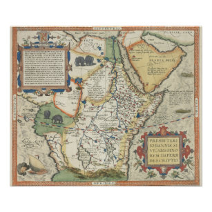 Map of Africa and the Arabian Peninsula Poster