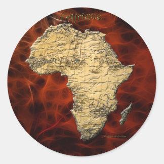 Map of Africa Dark Continent Art Stickers