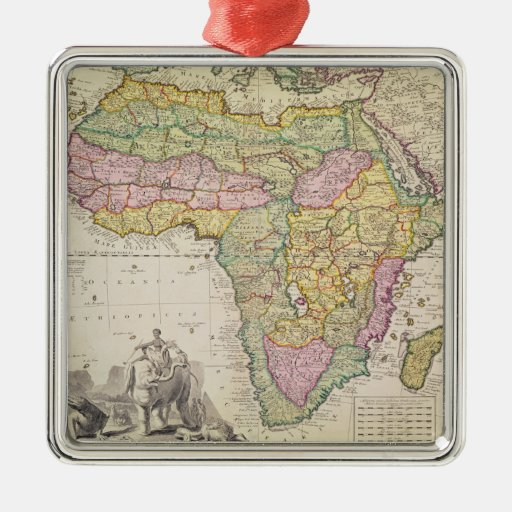 Map of Africa Christmas Tree Ornaments