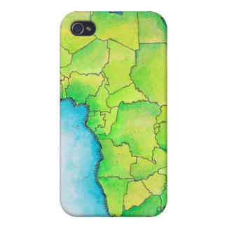 Map of Africa iPhone 4 Covers