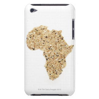 Map of Africa made of Cereals Barely There iPod Covers