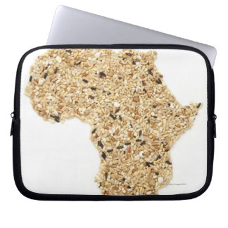 Map of Africa made of Cereals Laptop Sleeve