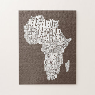 Map of Africa Map Text Art Puzzles