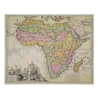 Map of Africa Print