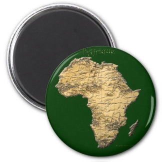Map of AFRICA Series Magnet