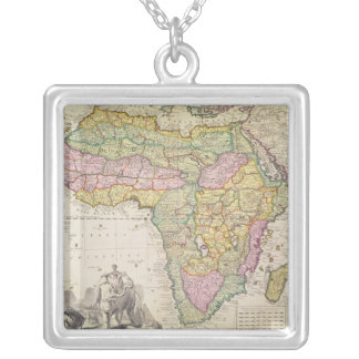 Map of Africa Silver Plated Necklace