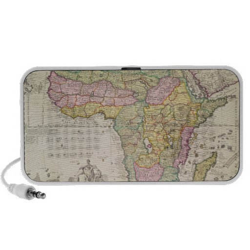 Map of Africa Travelling Speaker