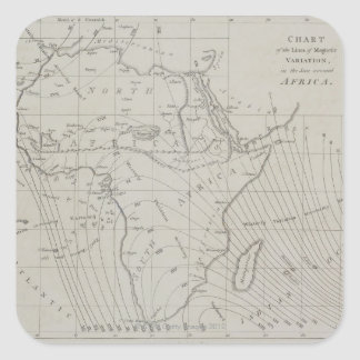 Map of Africa Square Sticker