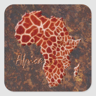 Map of Africa Stickers