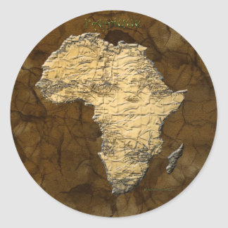 Map of Africa, The Dark Continent Round Stickers
