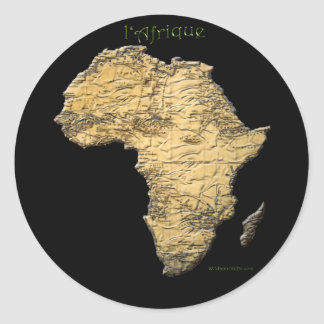 Map of Africa The Dark Continent Sticker