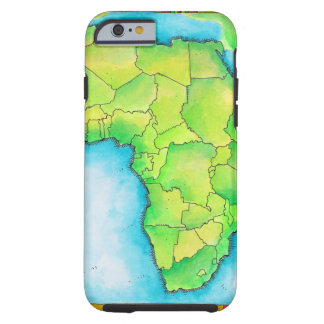 Map of Africa Tough iPhone 6 Case