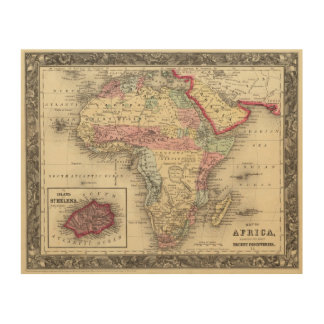 Map Of Africa Wood Prints