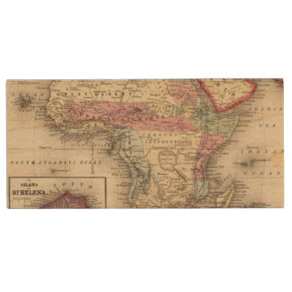 Map Of Africa Wood USB Flash Drive