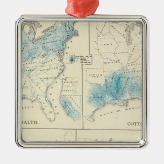 Map of Agriculture and wealth by colors Christmas Ornament