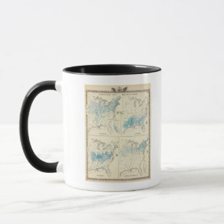 Map of Agriculture and wealth by colors Mug