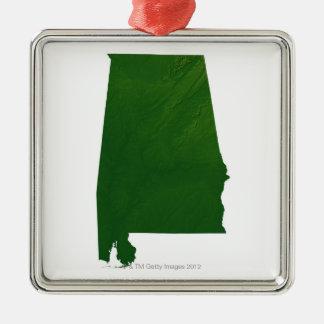 Map of Alabama Christmas Ornament