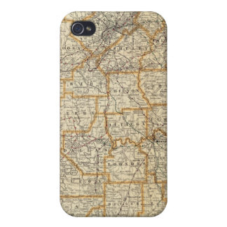 Map of Alabama Cover For iPhone 4