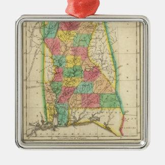 Map Of Alabama Christmas Tree Ornament