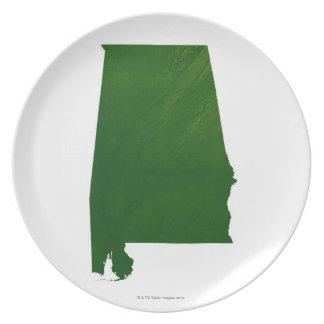 Map of Alabama Plate