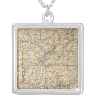 Map of Alabama Silver Plated Necklace