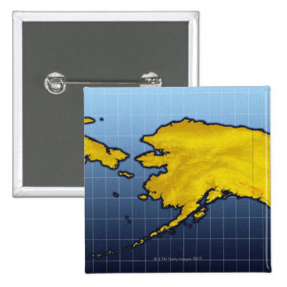 Map of Alaska 15 Cm Square Badge