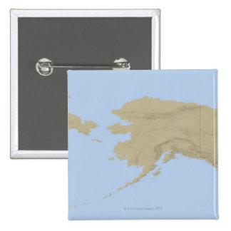 Map of Alaska 3 15 Cm Square Badge