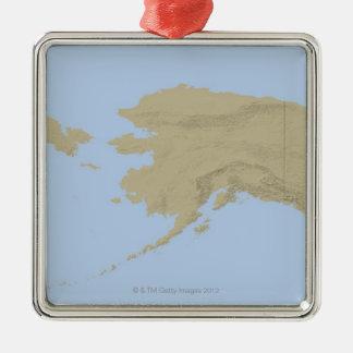 Map of Alaska 3 Christmas Ornament