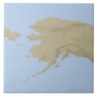 Map of Alaska 3 Tile