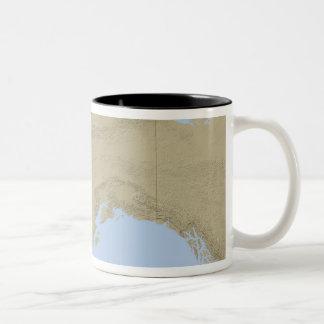 Map of Alaska 3 Two-Tone Coffee Mug