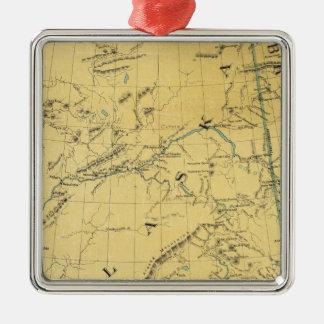 Map Of Alaska Christmas Tree Ornament