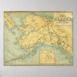 Map Of Alaska Poster