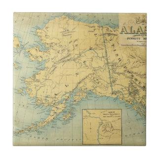 Map Of Alaska Tile
