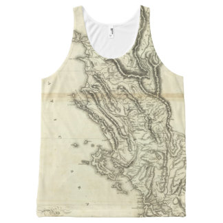 Map of Albania All-Over Print Tank Top
