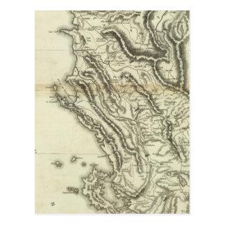 Map of Albania Postcard