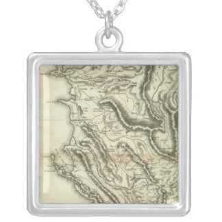 Map of Albania Silver Plated Necklace