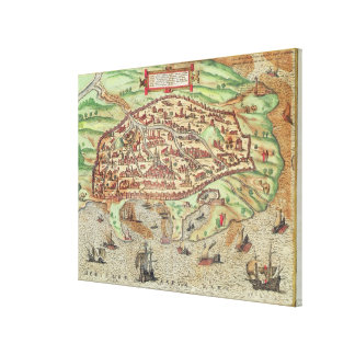 Map of Alexandria Canvas Print