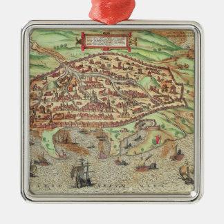 Map of Alexandria Christmas Ornament