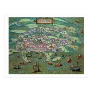Map of Alexandria, from 'Civitates Orbis Terrarum' Postcard