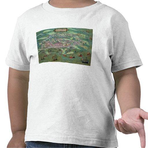 Map of Alexandria, from 'Civitates Orbis Terrarum' T-shirt