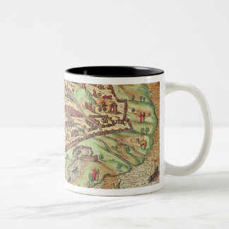 Map of Alexandria Two-Tone Coffee Mug