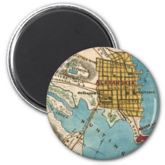 Map of Alexandria VA and Neighbor Cities Magnet
