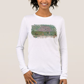 Map of Algiers, from 'Civitates Orbis Terrarum' by Long Sleeve T-Shirt