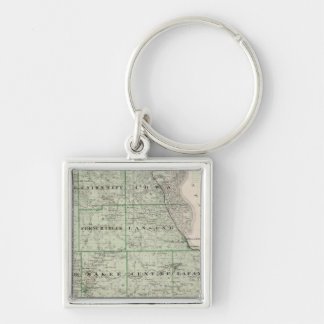Map of Allamakee County Key Ring